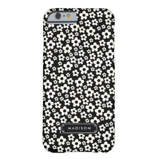Floral blanco negro de la MOD de la moda Funda Barely There iPhone 6