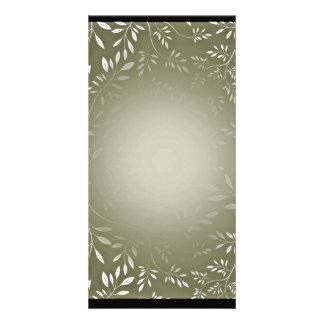 Floral blanco precioso en textura del verde de mar tarjetas fotográficas