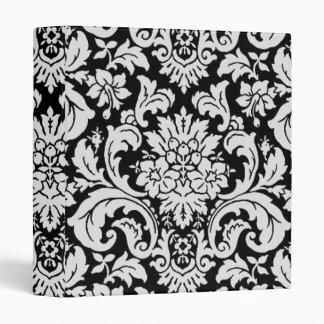 """Floral blanco y negro carpeta 1"""""""
