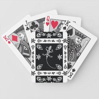 Floral blanco y negro - naipes
