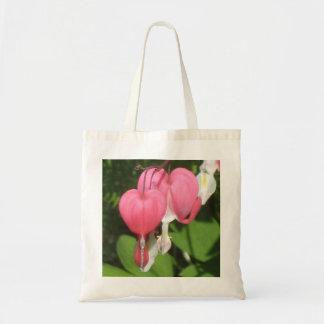 Floral Bleeding Heart - Budget Tote Bag