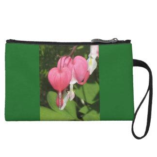 Floral Bleeding Heart Green Mini Clutch Bag