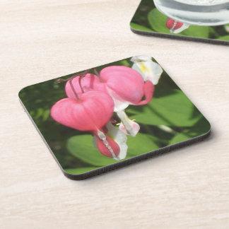 Floral Bleeding Heart High Gloss Plastic Coaster