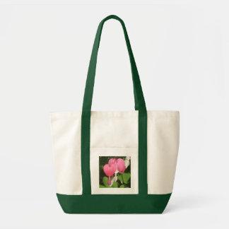 Floral Bleeding Heart - Impulse Tote Grocery Bag