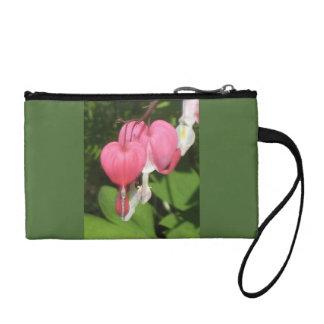 Floral Bleeding Heart - Key Coin Clutch Bag