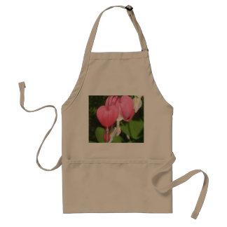 Floral Bleeding Heart Khaki Standard Apron