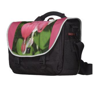 Floral Bleeding Heart Pink Rickshaw Commuter Bag