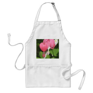 Floral Bleeding Heart White Standard Apron