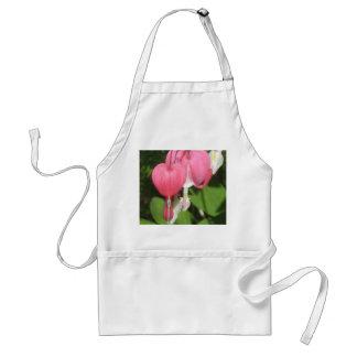 Floral Bleeding Heart White Standard Apron