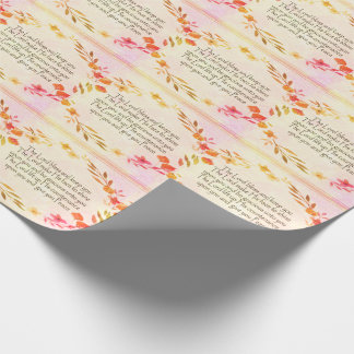 Floral Blessings Photo Gloss Wrapping Paper