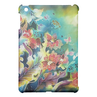 Floral Bliss Under the Moons Light Silk Painting iPad Mini Cases