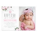 Floral Blooms | Baptism Invitation