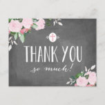 "Floral Blooms Chalkboard Religious Thank You Card<br><div class=""desc"">Available in multiple colors.</div>"