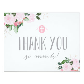 Floral Blooms Religious Thank You Card