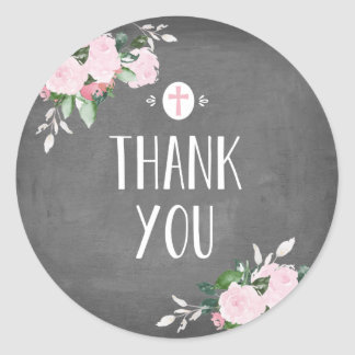 Floral Blooms Religious Thanks Sticker Chalkboard