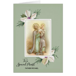 Floral Blooms | St. Joseph | Jesus|  Father's Day Card