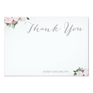 Floral Blooms Thank You Card