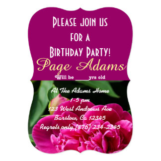 Floral Blossoms Party Balloons Pattern Destiny Card