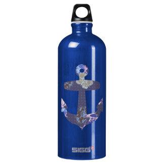 Floral blue anchor SIGG traveler 1.0L water bottle