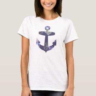 Floral blue anchor T-shirt