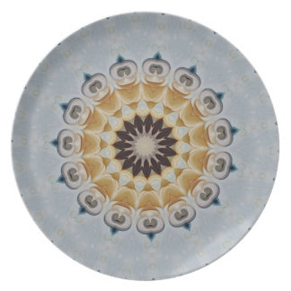 Floral Blue and yellow medallion rosette No.21 Plate