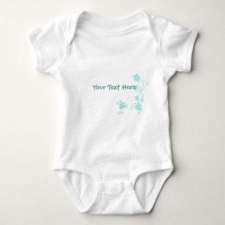 Floral blue baby bodysuit