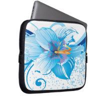 floral blue elegance laptop sleeve