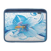 floral blue  elegance MacBook sleeve