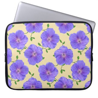 Floral Blue Geranium on any Color