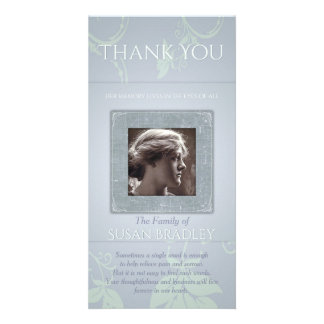 Floral Blue Gray Template Sympathy Thank You P