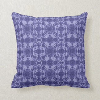 Floral Blue Lace Pattern Throw Pillow