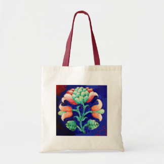 FLORAL , blue pink green Tote Bag