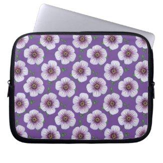 Floral Blue Purple Geranium on any Color