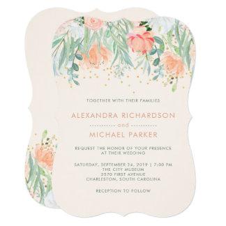 Floral Blush Romance | Watercolor Wedding Card