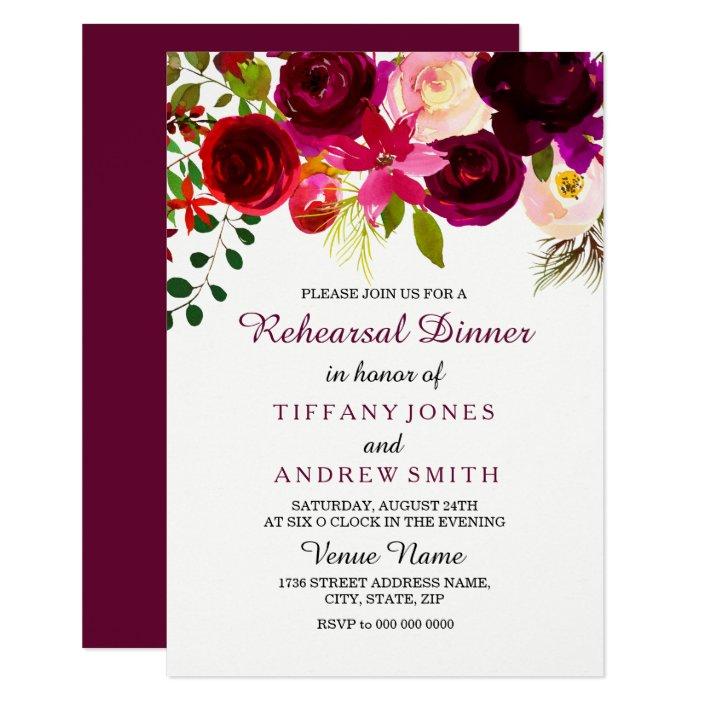 Boho rehearsal dinner invitation Flower Wedding rehearsal invitation Floral Rehearsal Dinner Invitation Vibrant and colorful invitation