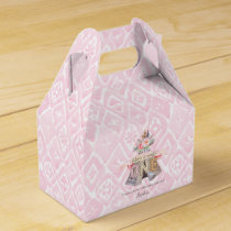 Floral Boho Tribal Teepee Wild One 1st Birthday Favor Box