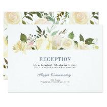 Floral Boho Wedding Reception Card