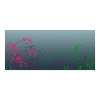Floral Book Mark Rack Card Template
