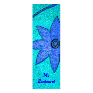 floral bookmark mini business card