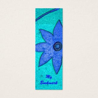 floral bookmark mini business card