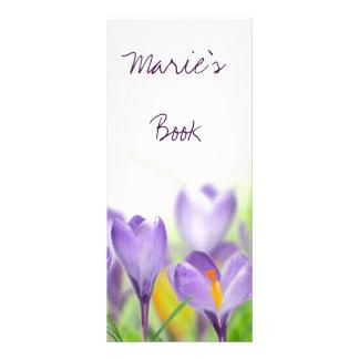 floral bookmarks rack card design