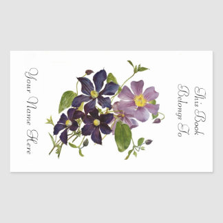 Floral Bookplate Stickers