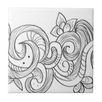Floral border design ceramic tiles