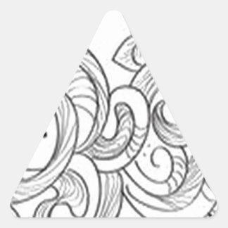Floral border design triangle sticker