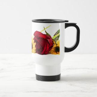 Floral Border Mug Stainless Steel Travel Mug
