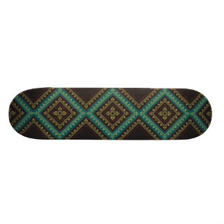 Floral Border Pattern - Rich Colours Skateboard