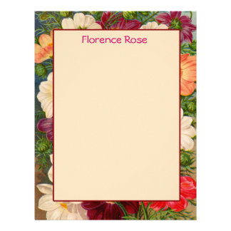 Floral Border Stationery You can Customize Letterhead