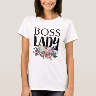 Floral Boss Lady T-Shirt