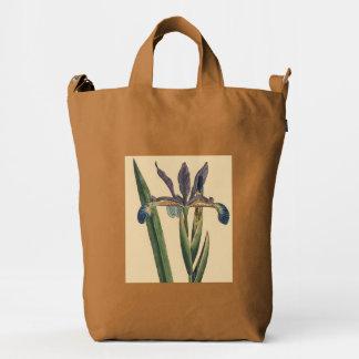 Floral Botanical Vintage Iris Flower Baggu Bag
