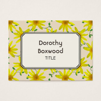 Floral Botanical Yellow Wildflowers Customizable Business Card